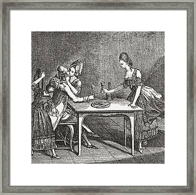 Life In A Berlin Brothel, 18th Century Framed Print