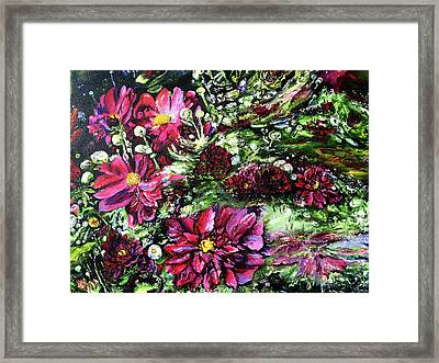 Life In A Bloom Field Framed Print