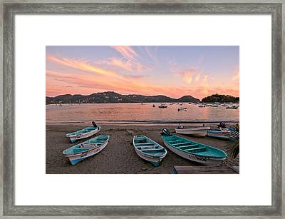 Life In A Fishing Village Framed Print by Jim Walls PhotoArtist