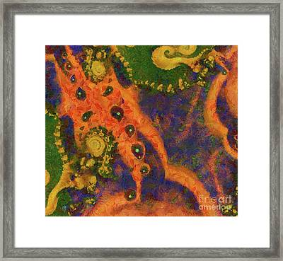 Life In A Petri Dish, Abstract Art By Raphael Terra Framed Print