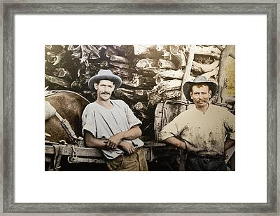 Framed Print featuring the photograph Life In Australia 1901 To 1914 by Miroslava Jurcik