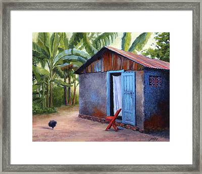 Life In Haiti Framed Print by Janet King