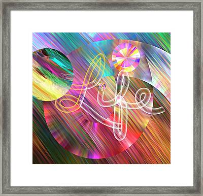 Life In Pastel - Text Art Framed Print