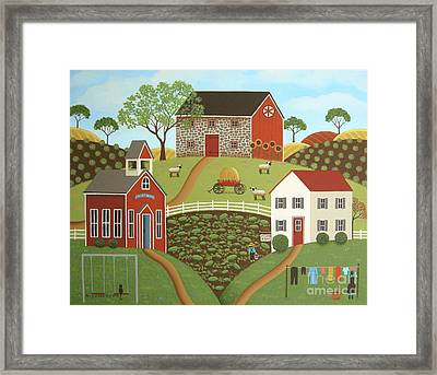 Life In The Country, II Framed Print by Mary Charles