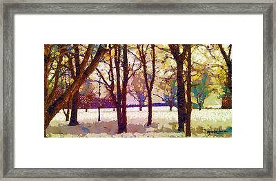 Life In The Dead Of Winter Framed Print by Gustav James