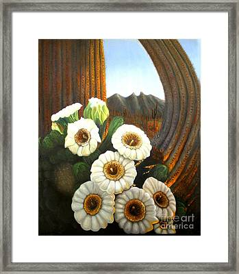 Life In The Desert Framed Print by Sonia Flores Ruiz