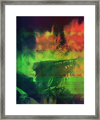 Life In The Flames Framed Print by Shawna Rowe