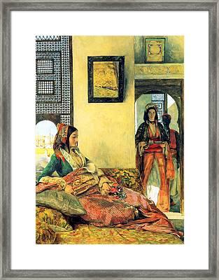 Life In The Harem Framed Print by Munir Alawi