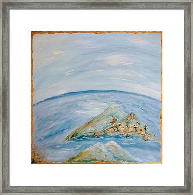 Life In The Middle Of The Ocean Framed Print