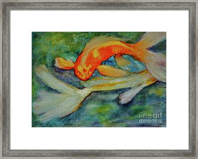 Life In The Pond Framed Print by Carla Stein