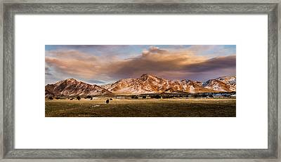 Life In The Sevier Valley Framed Print