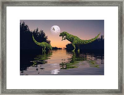 Life In The Swamp Framed Print by Claude McCoy