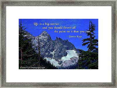 Life Is A Big Canvas Framed Print by Mike Flynn