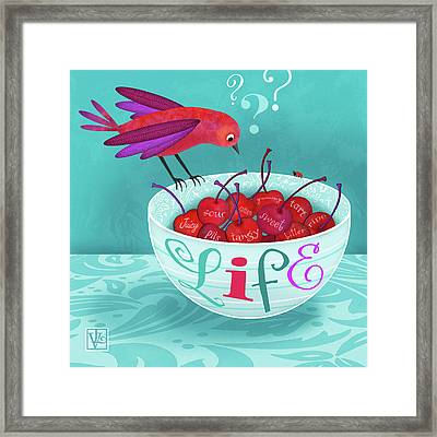 Life Is A Bowl Of Cherries Framed Print