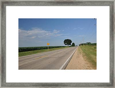 Life Is A Highway Framed Print