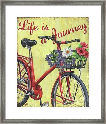 Life Is A Journey Framed Print by Debbie DeWitt