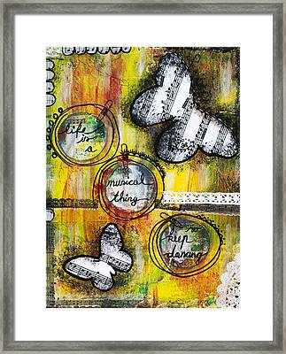 Life Is A Musical Thing Framed Print