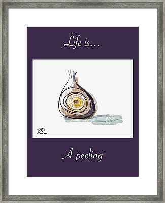 Life Is A-peeling Framed Print by Jason Nicholas