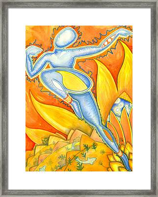 Life Is A Pure Flame And We Live By An Invisible Sun Within Us   Sir Thomas Brown    Framed Print by Mark Stankiewicz