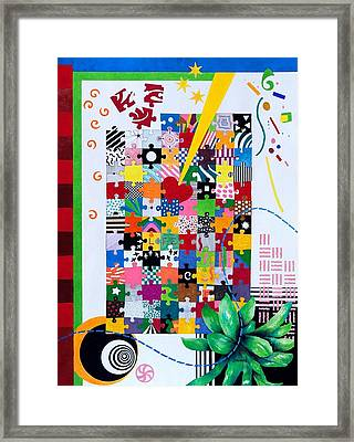 Life Is A Puzzle Framed Print by Thomas Gronowski