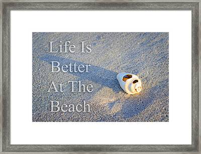 Life Is Better At The Beach - Sharon Cummings Framed Print