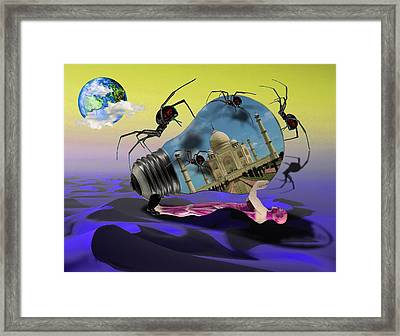 Life Is Difficult Framed Print by Solomon Barroa
