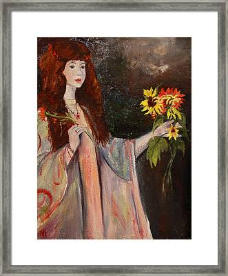 Framed Print featuring the painting Life Is Fragile Handle With Flowers by Jane Autry