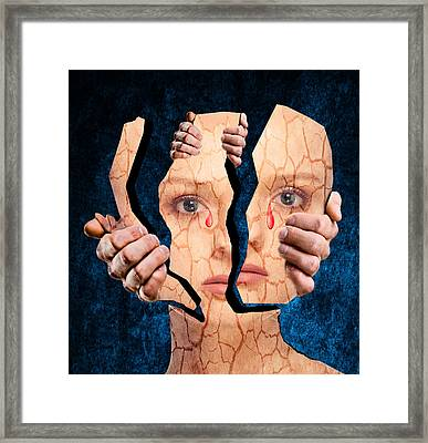 Life Is Full Of Pain And Suffering Framed Print by Solomon Barroa