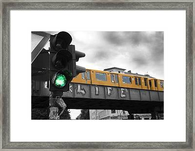 Life Is Go Go Framed Print by Nathan Wright