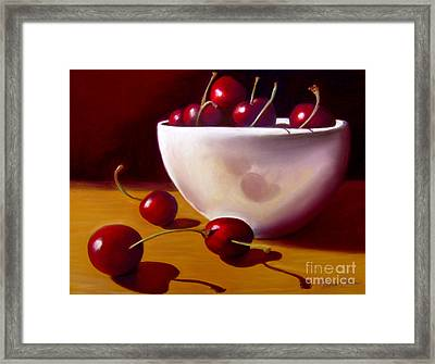 Life Is Just A Bowl Of Cherries Framed Print by Colleen Brown