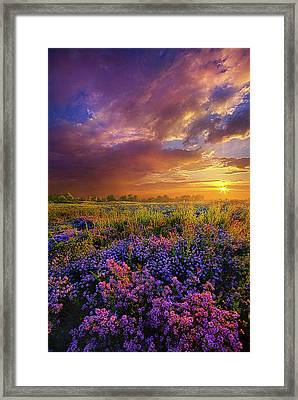 Life Is Measured In Moments Framed Print by Phil Koch