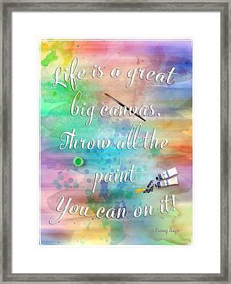 Life Is... - Watercolor Art Framed Print by Jordan Blackstone