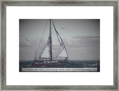 Life Is The Journey Framed Print