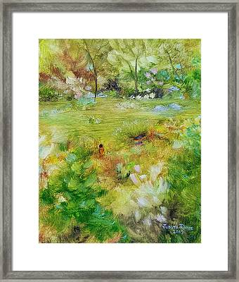 Framed Print featuring the painting Life Lessons by Judith Rhue