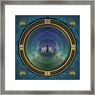 Life Mandala Framed Print