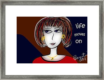 Life Moves On Framed Print by Sharon Augustin
