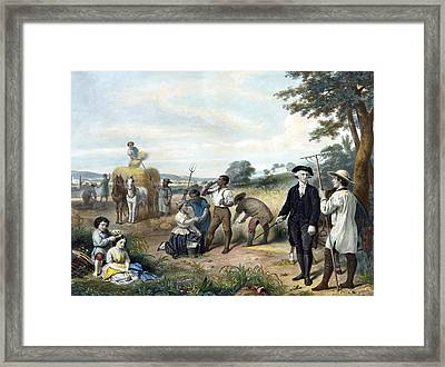 Life Of George Washington Framed Print by Junius Brutus Stearns
