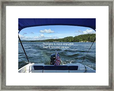 Framed Print featuring the photograph Life Of Leisure by Peggy Hughes