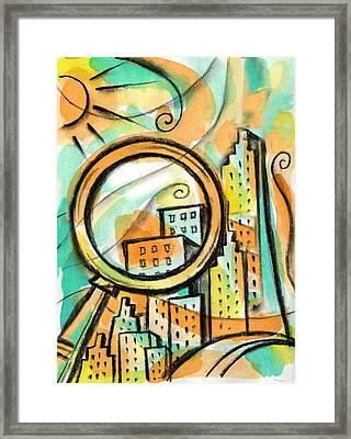 Life Of The Big City Framed Print