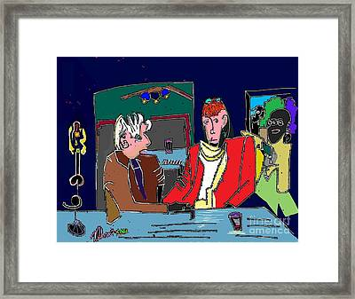 Life Of The Party Politics Presents  Framed Print by Michael OKeefe