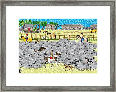 Life On A Sheep Station Framed Print by Diana-Lee Saville