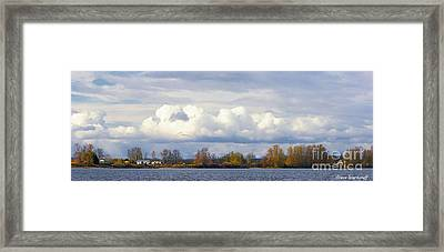 Life On The Columbia Framed Print