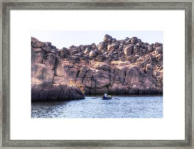 life on the Nile, Egypt Framed Print