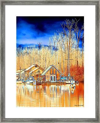 Life On The River Framed Print