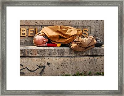 Life On The Street Framed Print