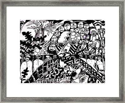 Life Or Death Framed Print by Robert Daniels
