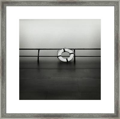 Life Ring On Boat In Yokohama Port Framed Print