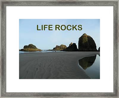 Life Rocks Framed Print by Gallery Of Hope