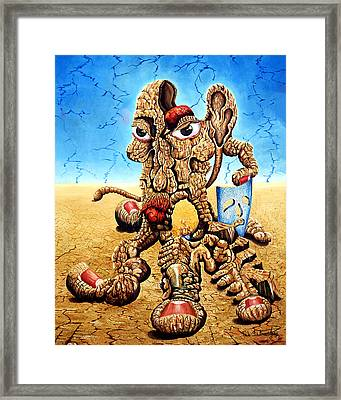 Life S Theater Framed Print by Tak Salmastyan