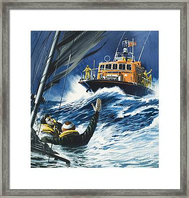 Life Savers Framed Print